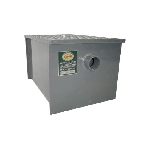Carbon Steel Restaurant Grease Trap: 40 lb Grease