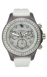 Zodiac Air Dragon Chronograph Swarovski® stones Purple Acrylic Women's watch #ZS7632