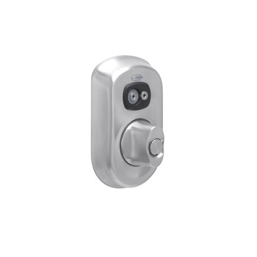 Schlage Be367-Ply Plymouth Computer Managed Programmable Electronic Deadbolt, Satin Chrome