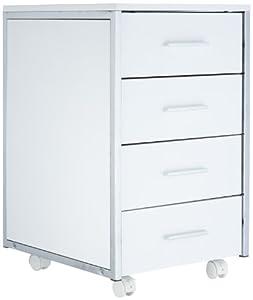 Links 50300260 cassettiera con rotelle colore bianco for Cassettiera amazon