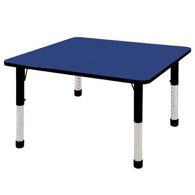 Ecr4kids 48 square activity table standard legs w swivel glides blue top black edge general - Table glides for legs ...
