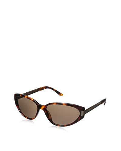 Escada Women's SES229M Sunglasses, Orange Spotted Dark Havana
