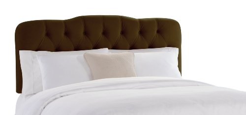 Skyline Furniture Surrey Full Tufted Headboard, Chocolate Velvet