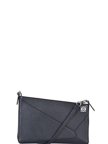 loewe-womens-32289m871100-black-leather-shoulder-bag