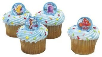 Disney Finding Nemo Friends Cupcake Rings - 24 ct