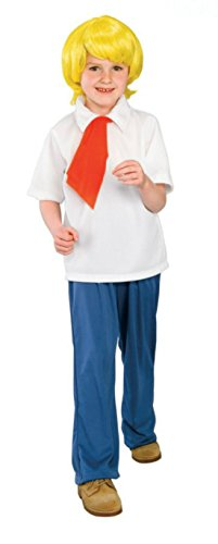 Boys Scooby Doo Fred Kids Child Fancy Dress Party Halloween Costume
