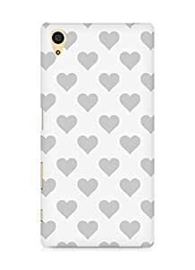 Amez designer printed 3d premium high quality back case cover for Sony Xperia Z5 (grey hearts)