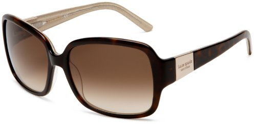 Image of Kate Spade New York Women's Lulu Tortoise/Gold/Brown Gradient Lens Sunglasses  One Size