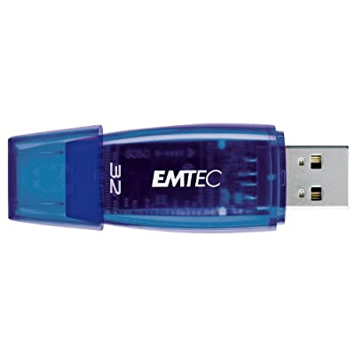 EMTEC C400 Candy II Series 32 GB USB 2.0 Flash Drive (Blue)