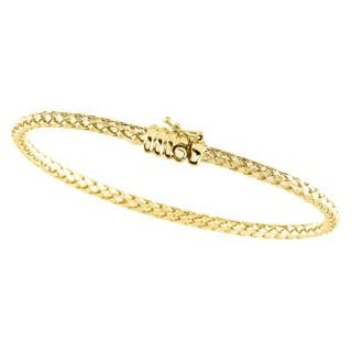 Clevereve's 14K Yellow Gold 7.25 Inch Basket Weave Chain