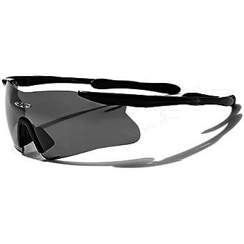 X-Loop Lunettes de Soleil - Sport - Cyclisme - Ski - Conduite - Motard / Mod. 3555 Noir / Taille Unique Adulte / Protection 100% UV400
