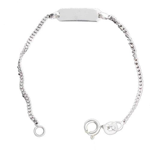 Sterling Silver 5 1/4 Inch Baby ID Bracelet