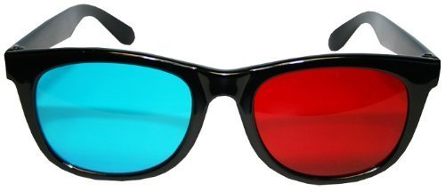 3D Classic Aviation Style Plastic Glasses Anaglyphic Red Cyan
