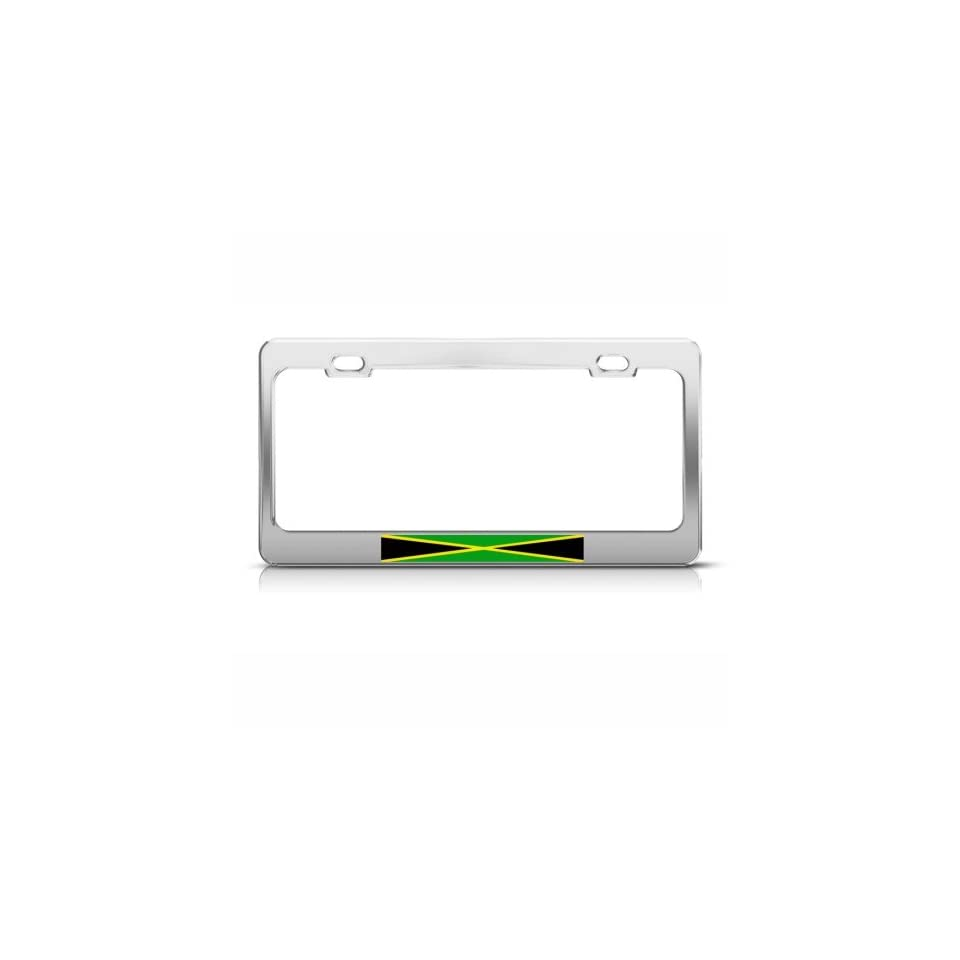 Jamaica Jamaican Flag Country License Plate Frame Tag Holder
