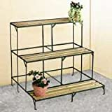 etagere jardin metal pot porte fleurs plantes 60x70x60cm. Black Bedroom Furniture Sets. Home Design Ideas