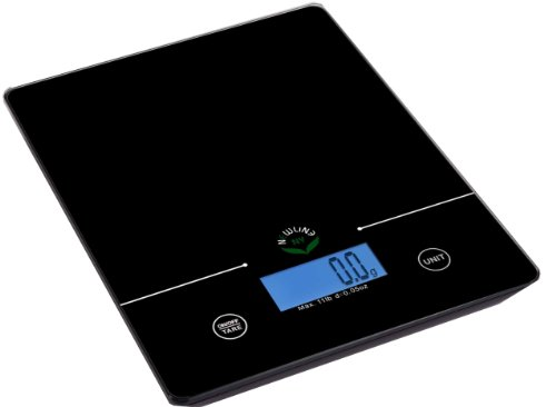 NewlineNY 11 Lb Capacity Touch Pad Digital Kitchen Scale, SBK-KF201-BK Black