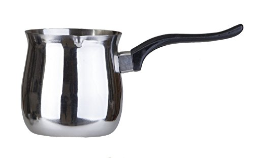 Pal Ed Stainless Steel Turkish Warmer (Finjan, Coffee Pot) (22 Oz.)