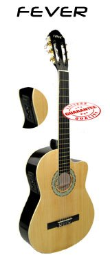 Fever Nylon String Acoustic Electric Guitar Natural 039Ceq-Nt