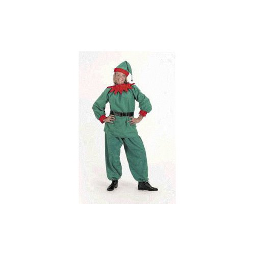Christmas Elf Velour Costume Suit Adult Size 8-12