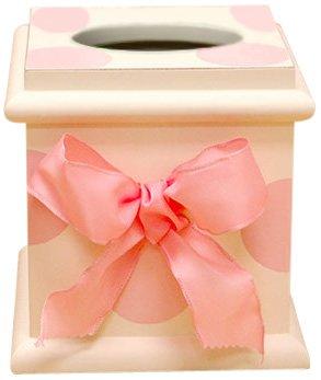 New Arrivals Tissue Box, Pink Polka Dot