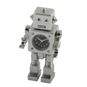 Miniature Novelty Silver Robot Novelty Desktop