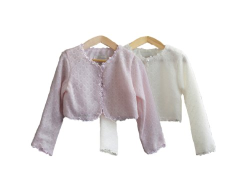 Classy 826 Beautiful Wool Sweater For Girl - Ivory 4T front-712257