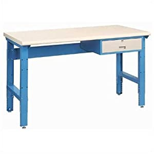 """Static Dissipative Assembly Workstation with Drawer, 34""""D Surface Color: Putty, Width: 72"""""""