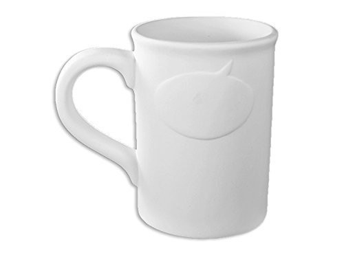 <span style=''>워드 업 머그컵 - 미완성 낮은 화재 세라믹 비스크 - - 페인트 - Potamus 자신의 세라믹 페인트/Word Up Mug..</span>