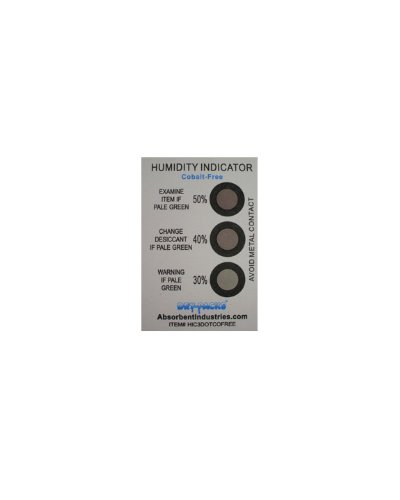 Cheap Cobalt Free Humidity Indicator Card, 3 Dot, Pack of 1 (HIC3DOTCOFREE)