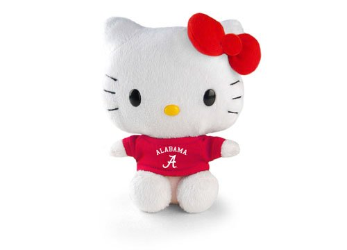 Hello Kitty Goes to College Alabama Crimson Tide  Plush Toy