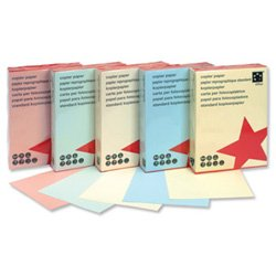 5 Star Coloured Copier Paper Multifunctional Ream-Wrapped 80gsm A4 Blue [500 Sheets]