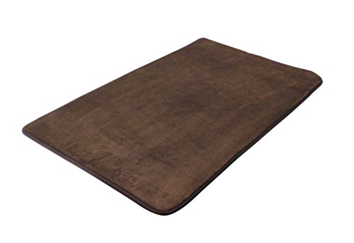 Lincraft 19 5 x 31 5 memory foam bath mat chocolate brown home garden bathroom accessories for Chocolate brown bathroom rugs