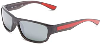 Ray Ban Men's Rb4196 Grey Frame/Grey Mirror Lens Plastic Sunglasses