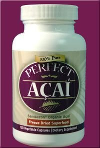 100% Pure Organic Perfect Acai Berry Freeze-Dried