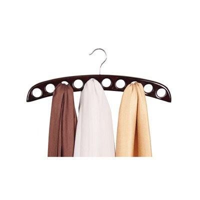 10-Hole Scarf Hanger - Walnut