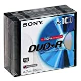 Sony DVD Plus (16X Speed) Slim jewel Case 10