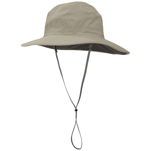 Outdoor Research Women's Misto Sombrero Rain Hat, 800-Khaki, Small