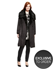 Plus Faux Shearling Duffle Long Coat