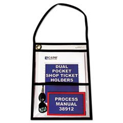 C-Line -Shop Ticket Holders, Stitched, Both Sides Clear, Open Long Side, 12 x 9, 25/BX