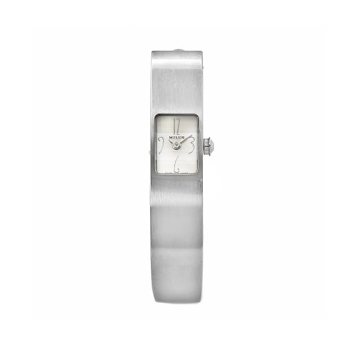 Milus Women's MON012 Monocera Stainless Steel Small White Dial Bangle Watch