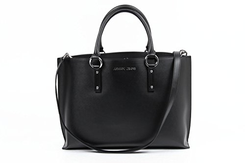 Armani Jeans Borsa Shopper in ecopelle Nero Unica Taglia