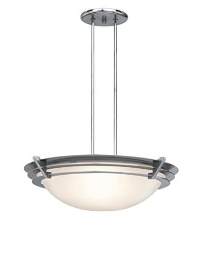 Access Lighting Saturn LED 1-Light Semi-Flush Mount, Brushed Steel/Frosted