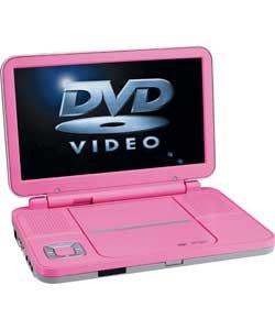 bush 10 portable dvd player pink electronics. Black Bedroom Furniture Sets. Home Design Ideas