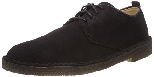 Clarks Originals - Desert London, Scarpe con lacci Derby da uomo, nero (black sde), 42.5