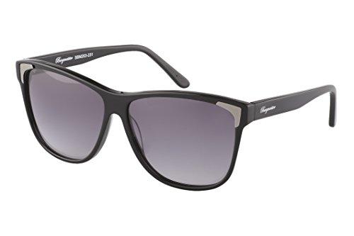 Burgmeister Damen SBM203-231 Vancouver Wayfarer Sonnenbrille, Black - Schwarz (Schwarz Schwarz)