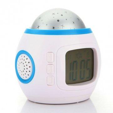 Man Friday LED Projection étoilée Star Sky Digital Music Alarm Clock