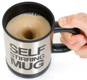 自動撹拌 ステンレス マグカップ これは 便利 コーヒー を混ぜる必要なし!青汁の粉タイプ飲料OK 電池付属