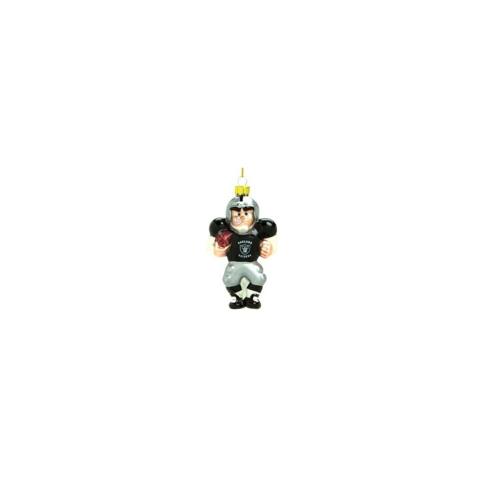 Oakland Raiders NFL Glass Player Ornament (4 Caucasian)