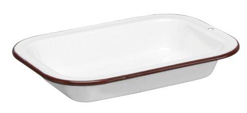 Cinsa 312013 Trend Ware Enamel on Steel Multiuse Plate, 1-Quart, White
