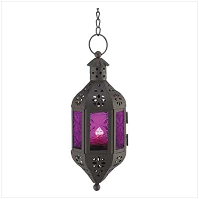 Purple Moroccan Candle Lantern from Online Discount Mart